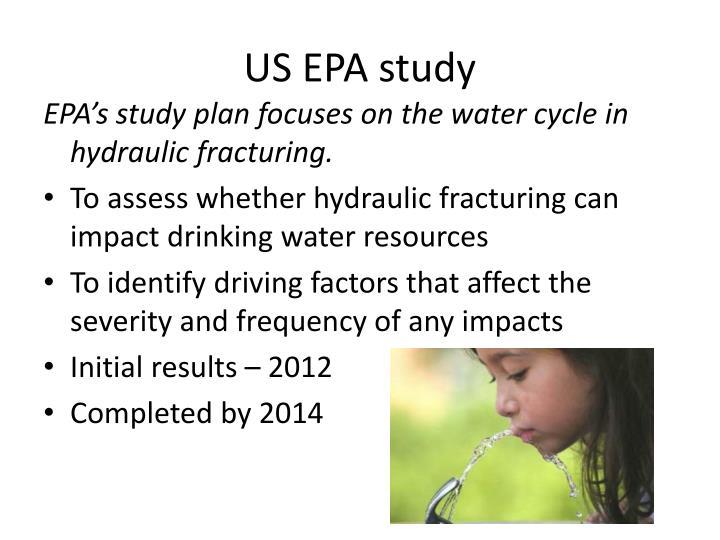 US EPA study