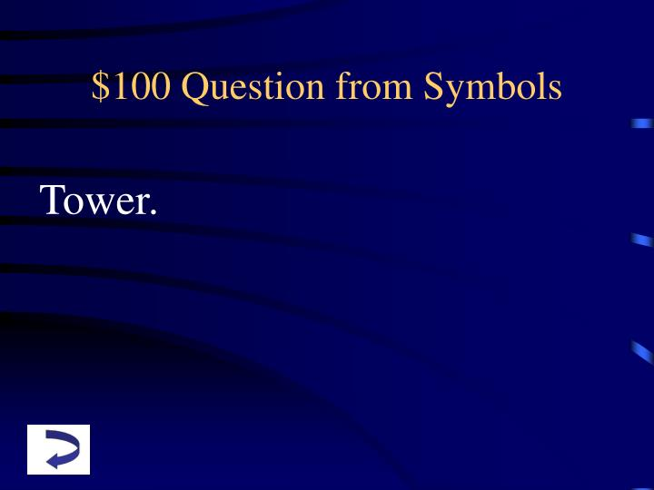 $100 Question from Symbols