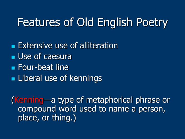 Features of Old English Poetry