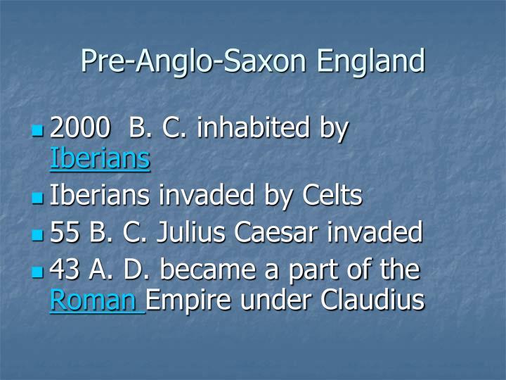 Pre-Anglo-Saxon England
