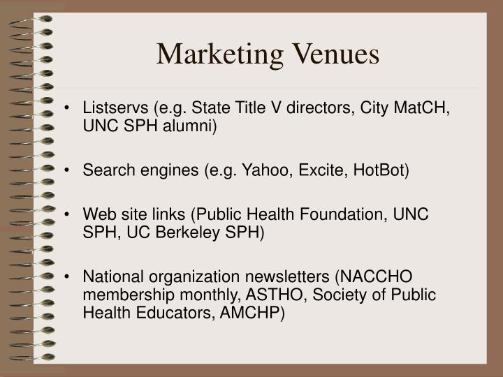 Marketing Venues