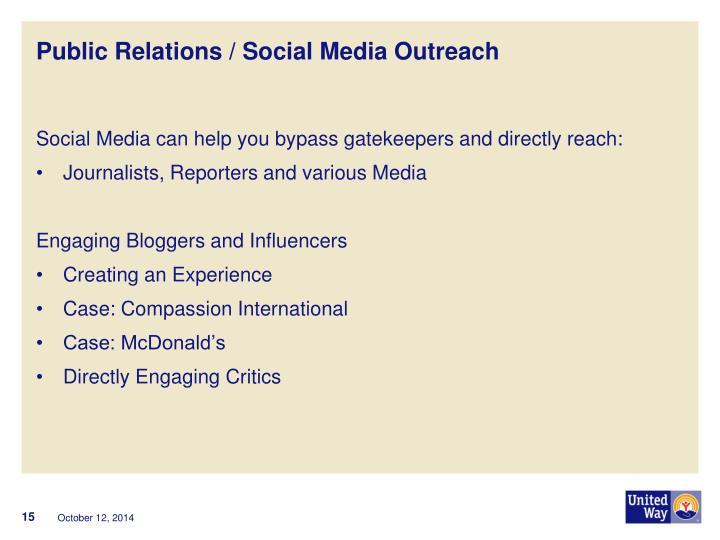 Public Relations / Social Media Outreach