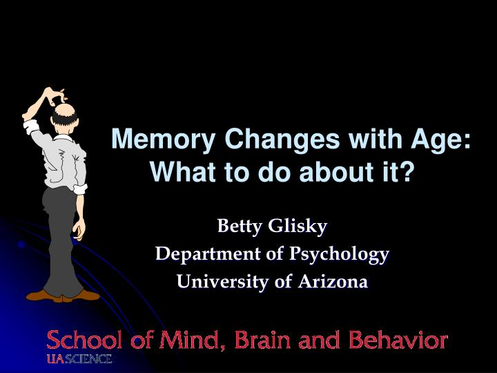 is your memory changing with age Use these tips to improve your memory how to improve your memory the human brain has an astonishing ability to adapt and change—even into old age.