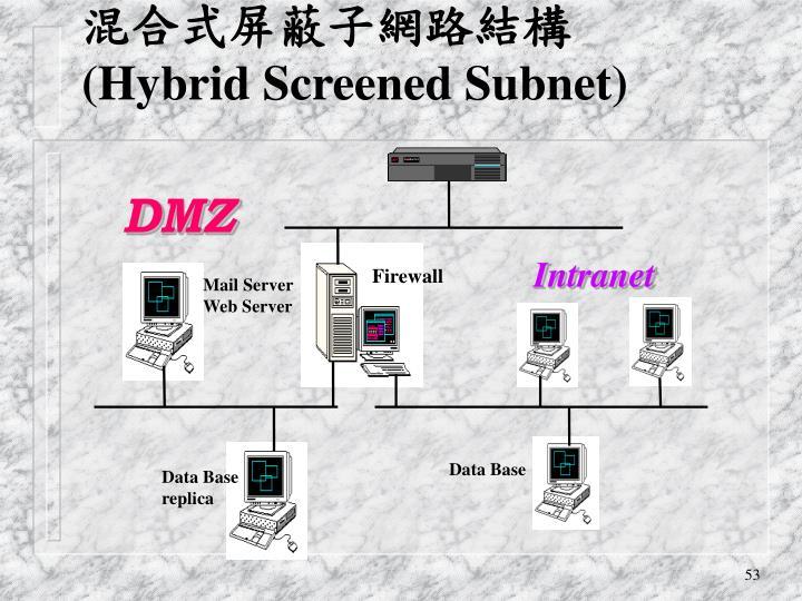 混合式屏蔽子網路結構