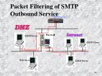 packet filtering of smtp outbound service