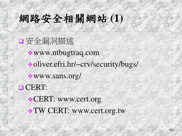 網路安全相關網站