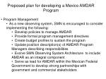 proposed plan for developing a mexico amdar program8