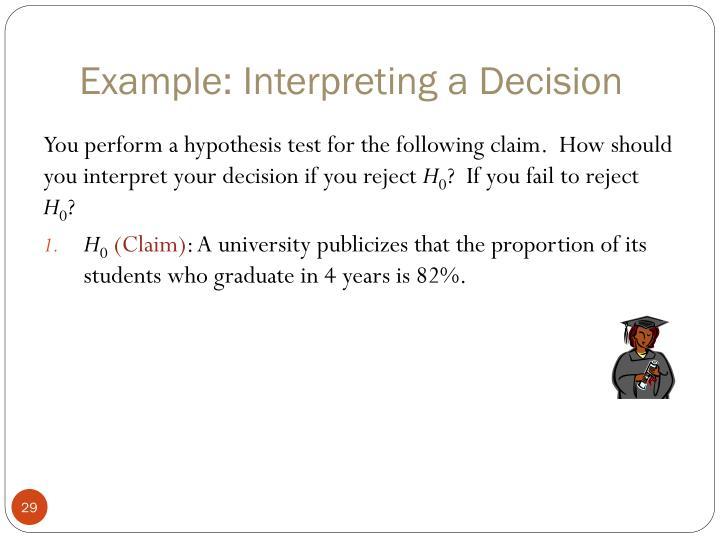 Example: Interpreting