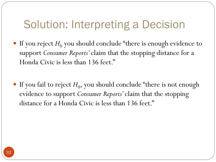 Solution: Interpreting