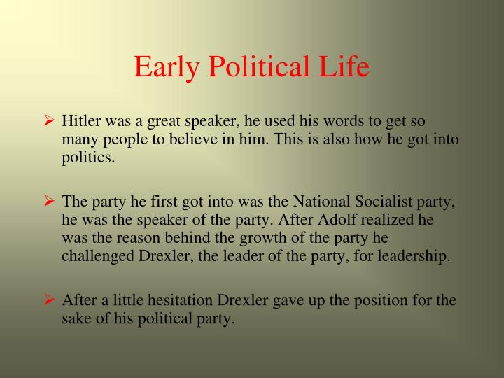 Early Political Life