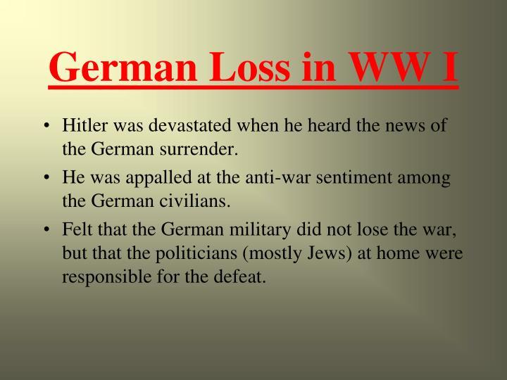 German Loss in WW I