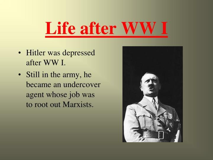 Life after WW I