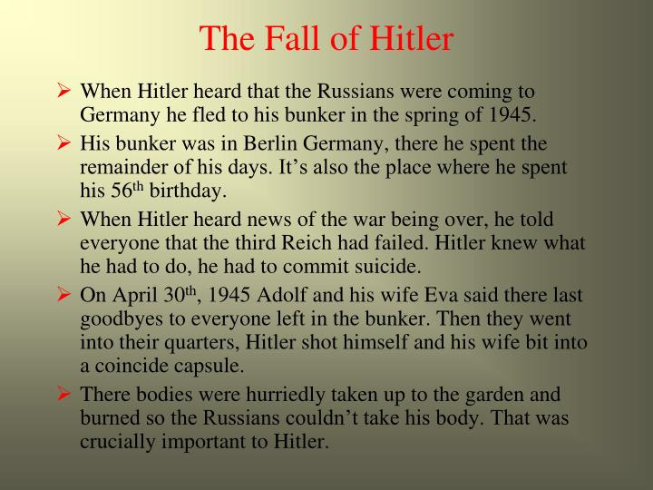 The Fall of Hitler