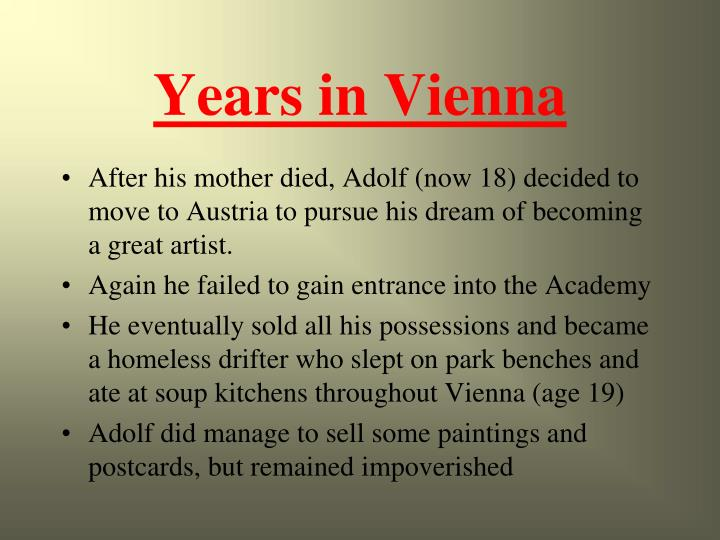 Years in Vienna