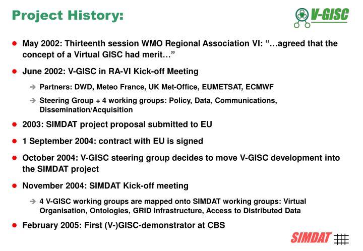 Project History: