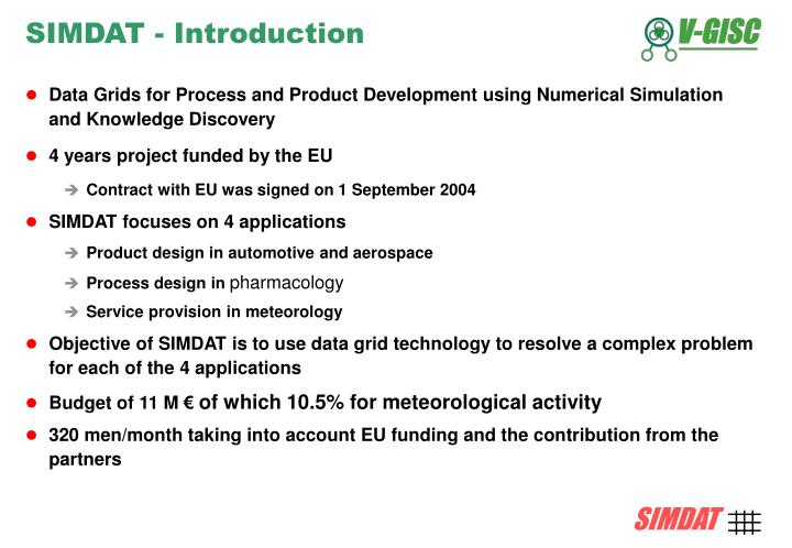 SIMDAT - Introduction