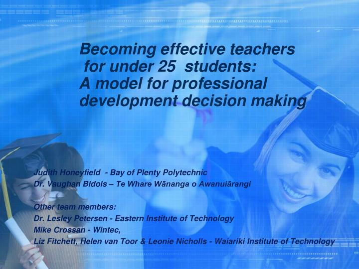 Becoming effective teachers
