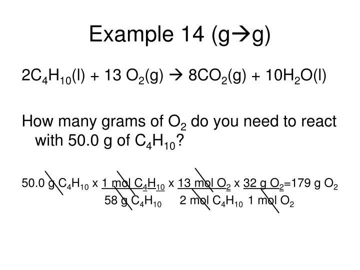 Example 14 (g