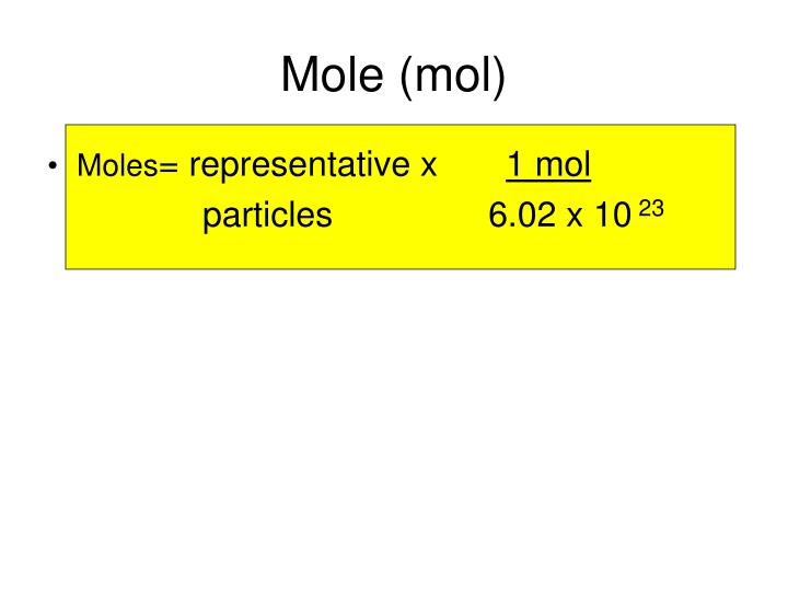 Mole (mol)
