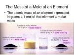 the mass of a mole of an element