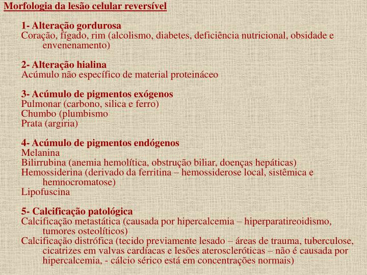 Morfologia da lesão celular reversível