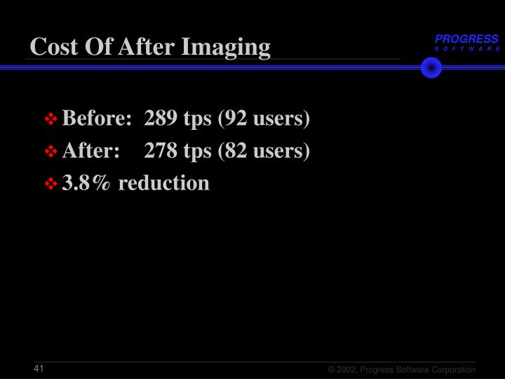 Cost Of After Imaging