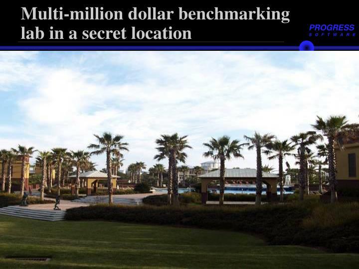 Multi-million dollar benchmarking lab in a secret location
