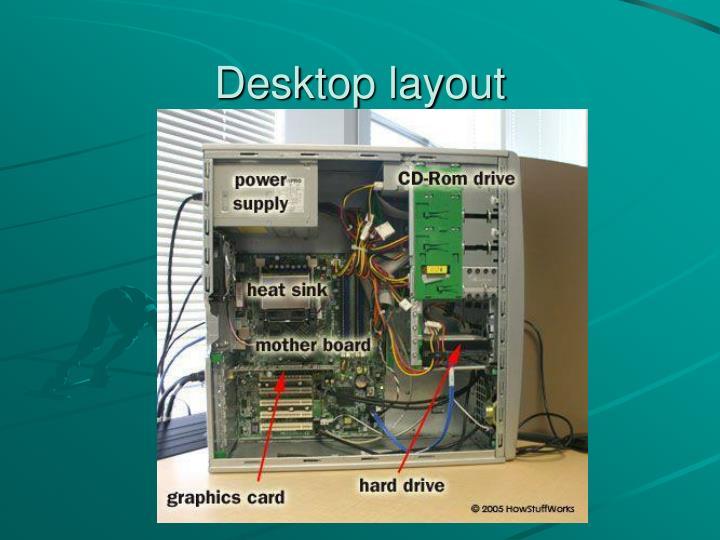 Desktop layout