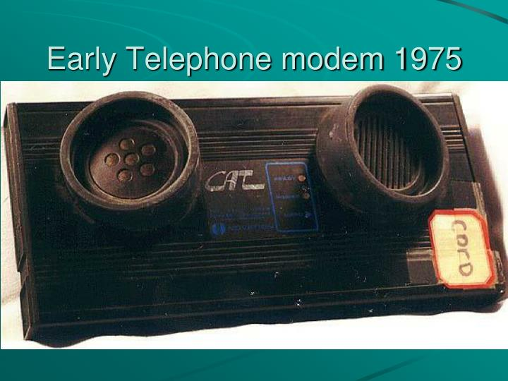 Early Telephone modem 1975