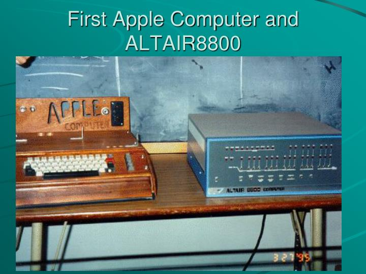 First Apple Computer and ALTAIR8800