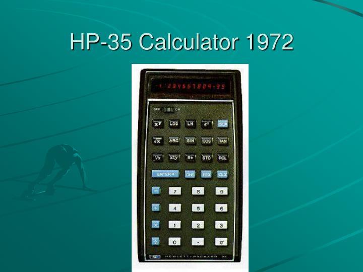 HP-35 Calculator 1972