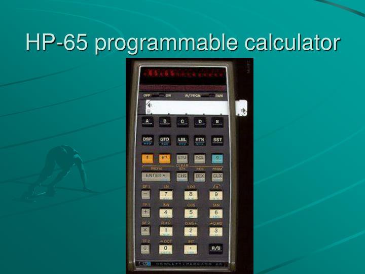 HP-65 programmable calculator