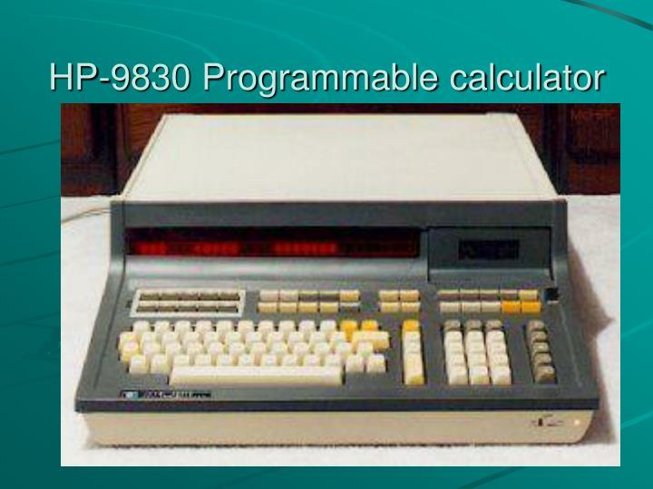 HP-9830 Programmable calculator