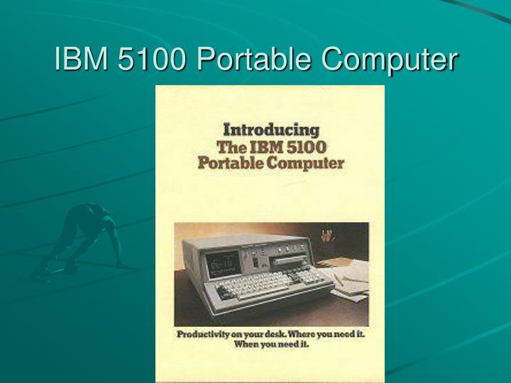 IBM 5100 Portable Computer