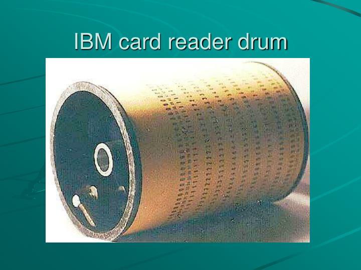 IBM card reader drum