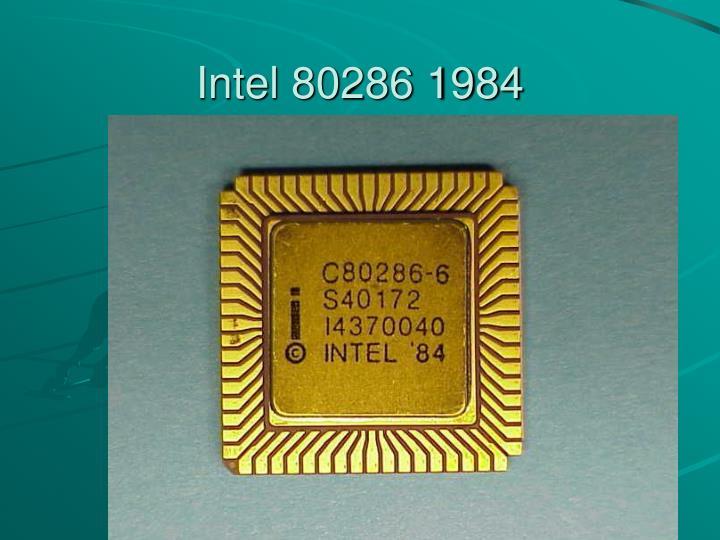 Intel 80286 1984