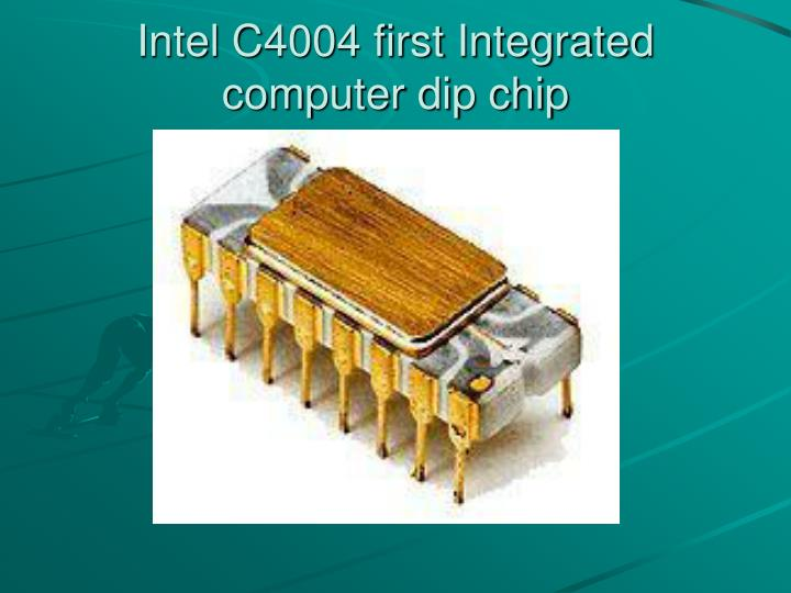 Intel C4004 first Integrated computer dip chip