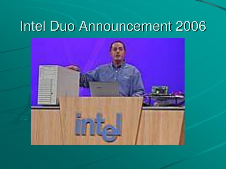 Intel Duo Announcement 2006
