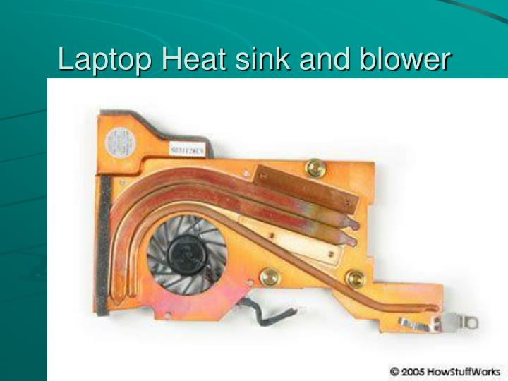 Laptop Heat sink and blower