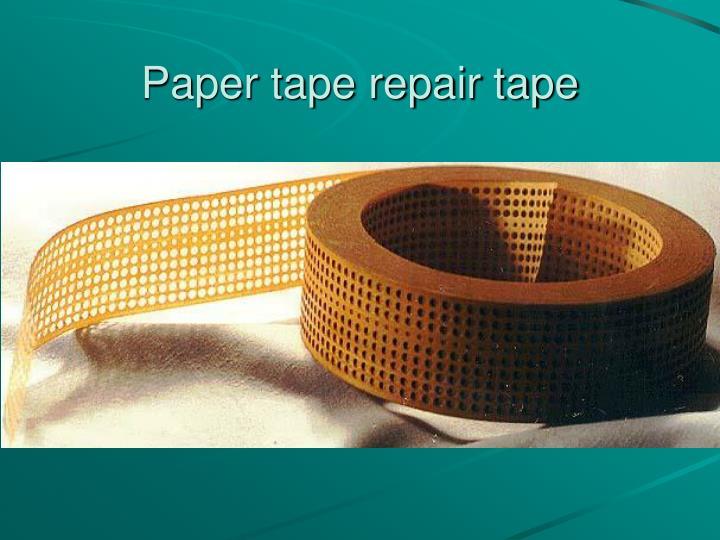 Paper tape repair tape