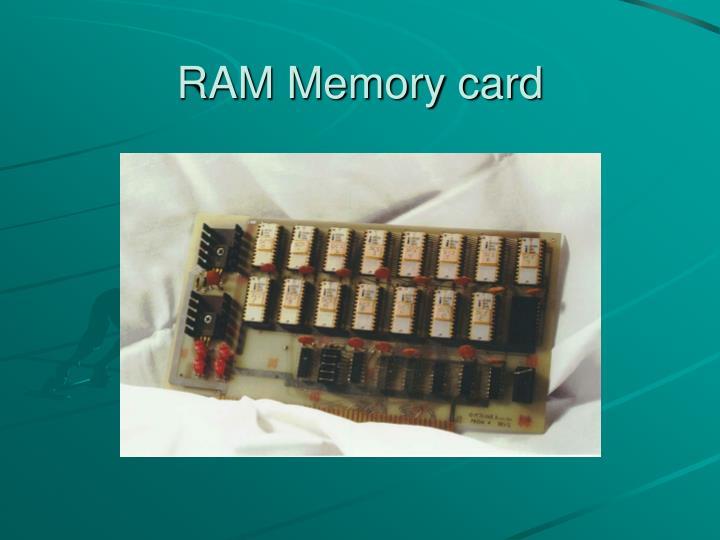 RAM Memory card