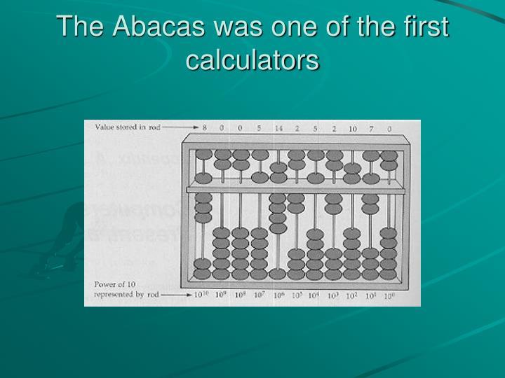 The abacas was one of the first calculators
