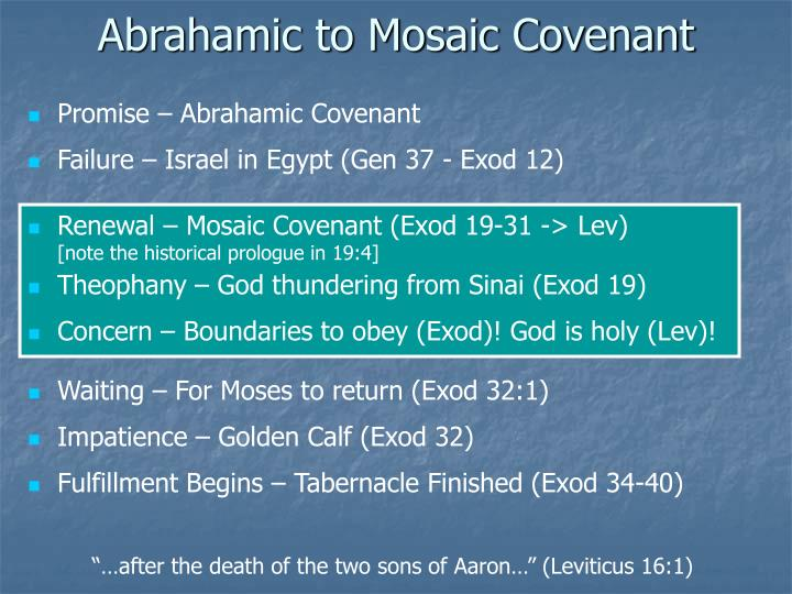 Abrahamic to Mosaic Covenant