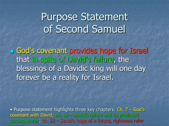 Purpose Statement