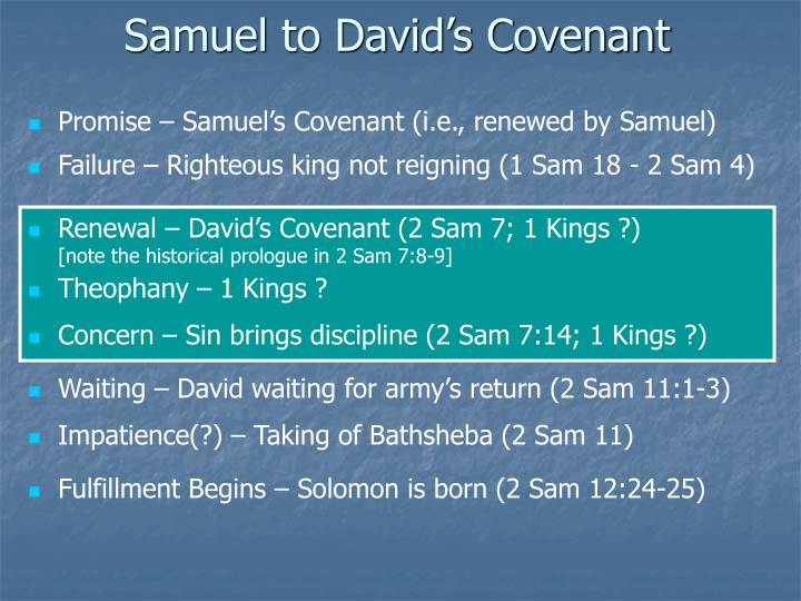 Samuel to David's Covenant