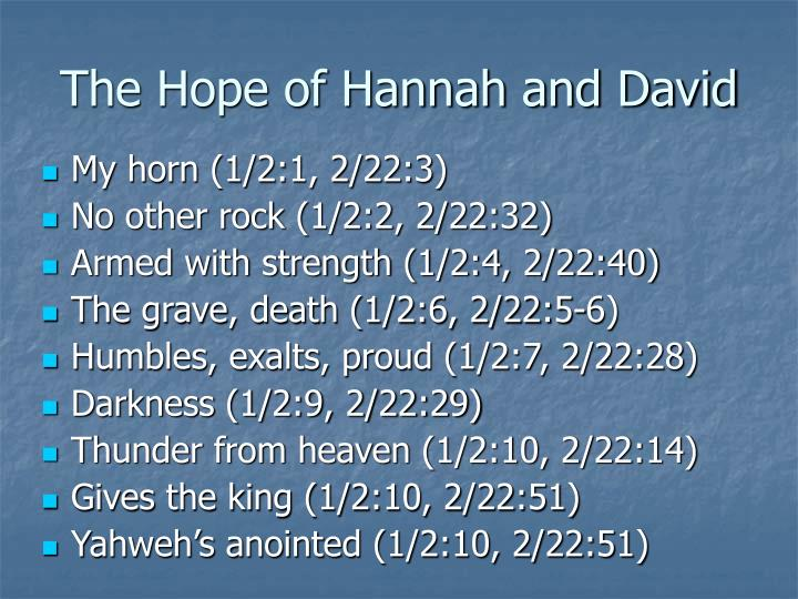 The Hope of Hannah and David