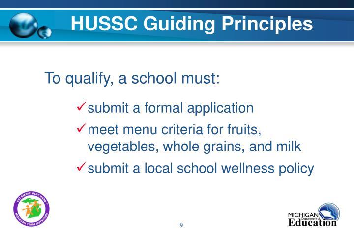 HUSSC Guiding Principles