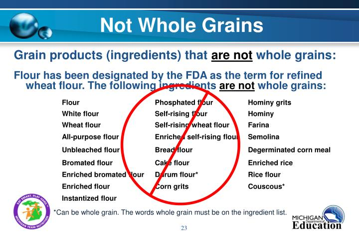 Not Whole Grains