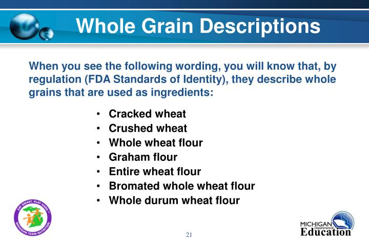 Whole Grain Descriptions