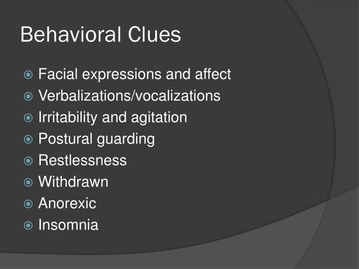 Behavioral Clues